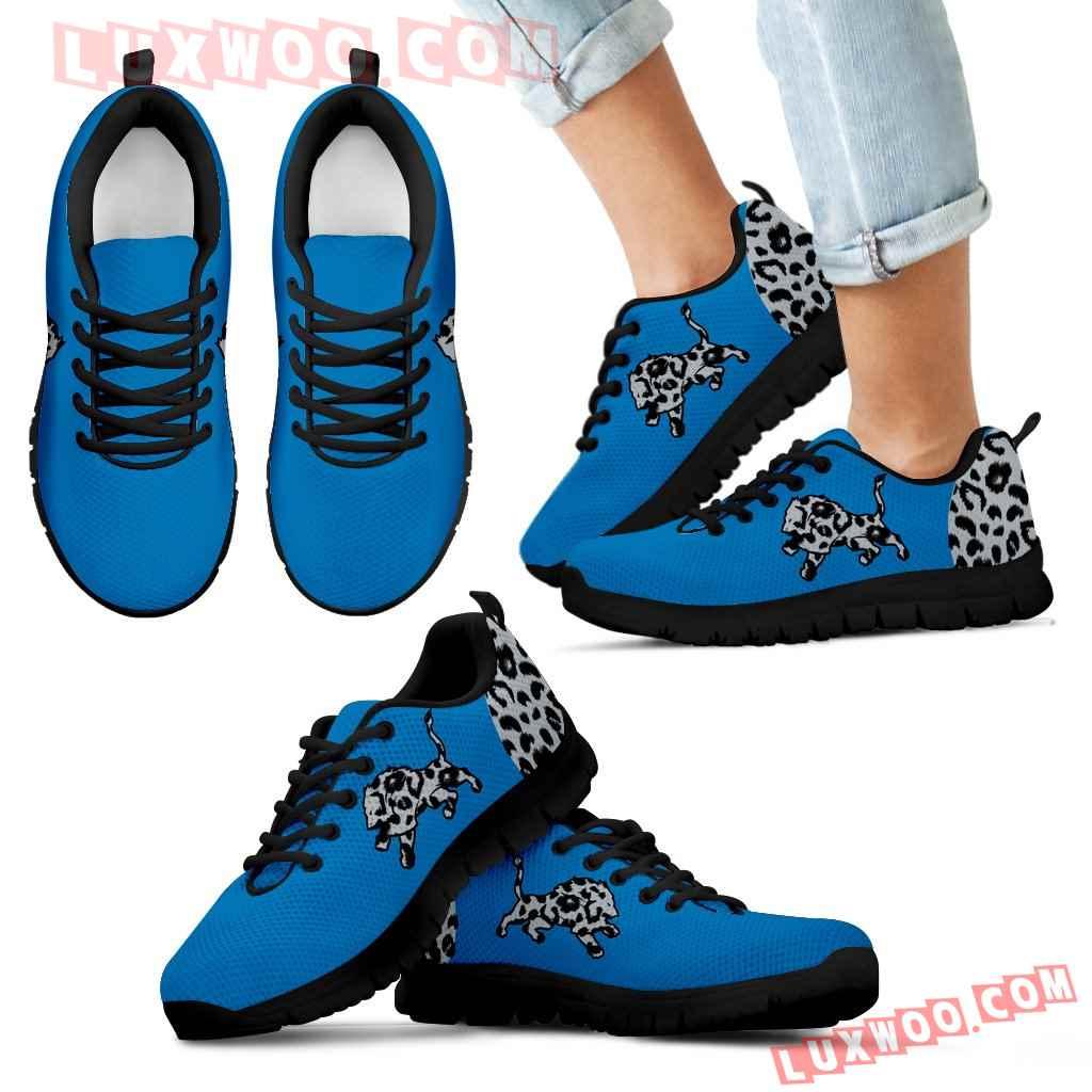 Cheetah Pattern Fabulous Detroit Lions Sneakers