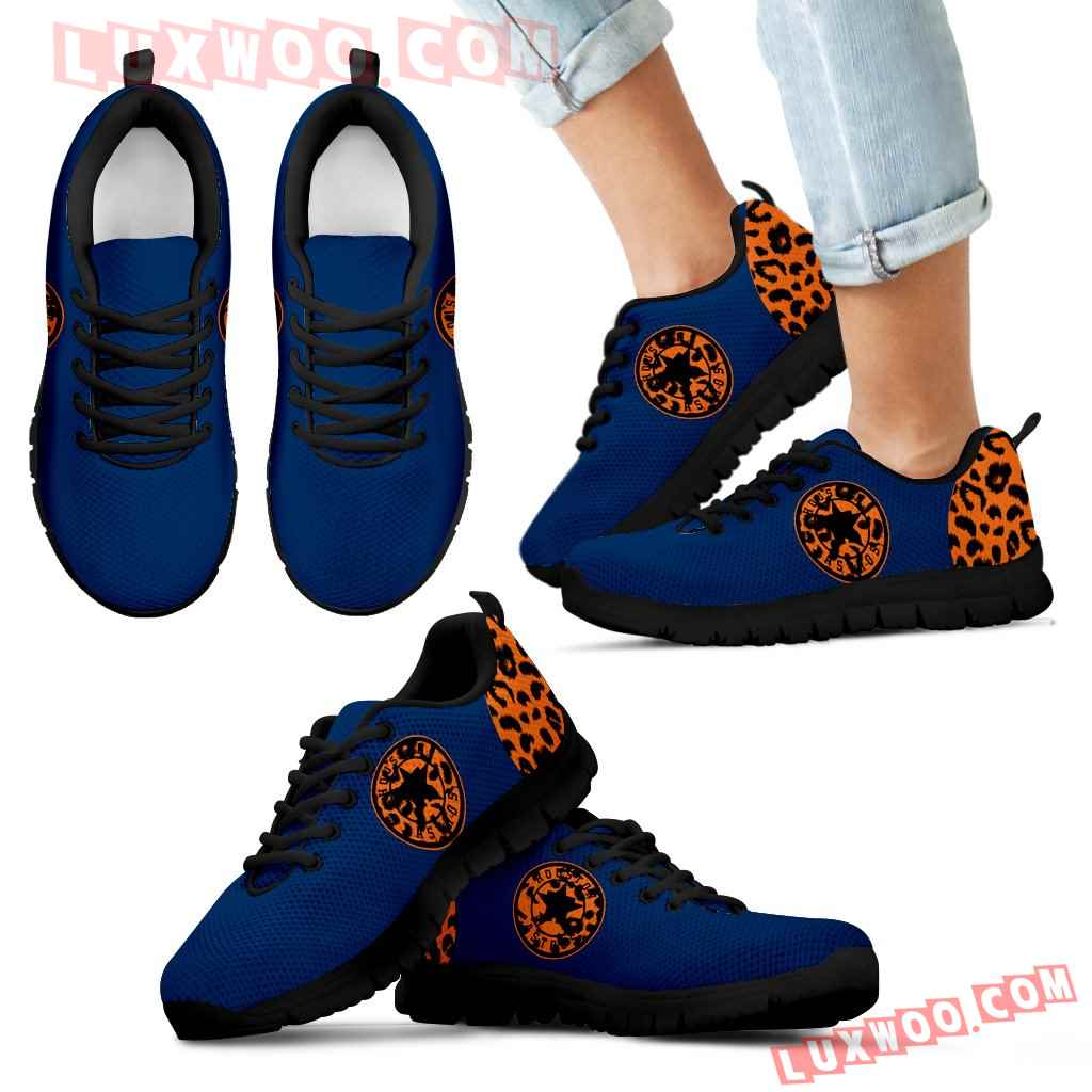 Cheetah Pattern Fabulous Houston Astros Sneakers