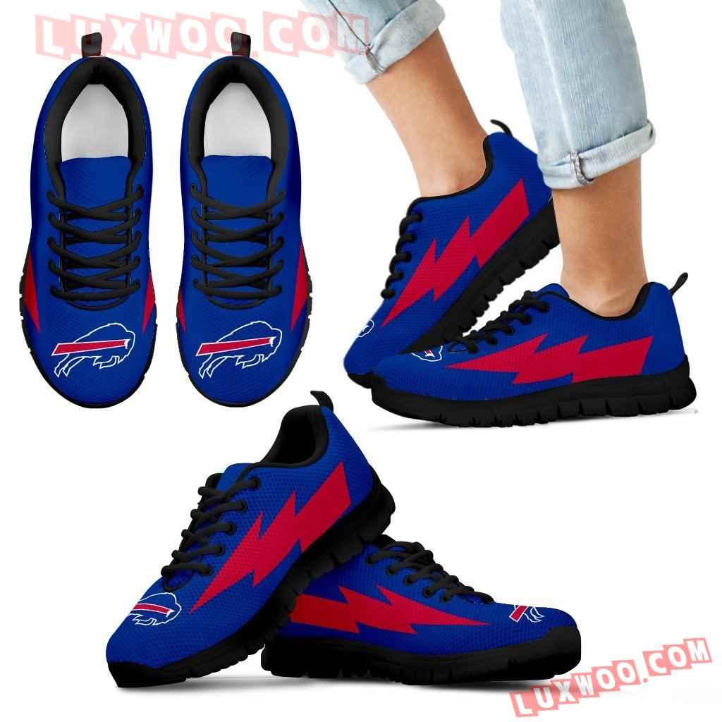 Colorful Buffalo Bills Sneakers Thunder Lightning Amazing Logo