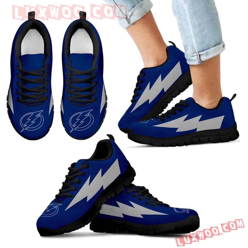 Colorful Tampa Bay Lightning Sneakers Thunder Lightning Amazing Logo