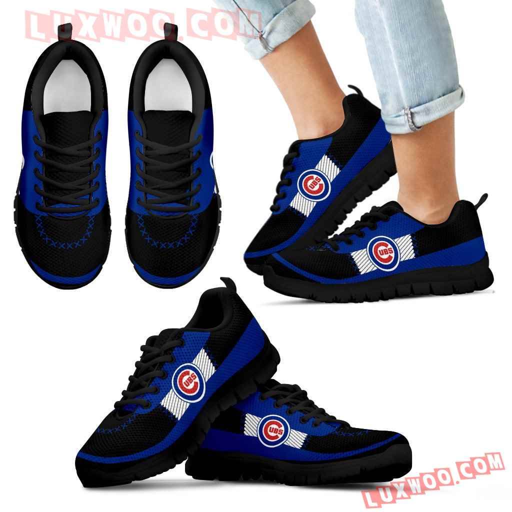 Cross Thread Seamless Beautiful Logo Chicago Cubs Sneakers