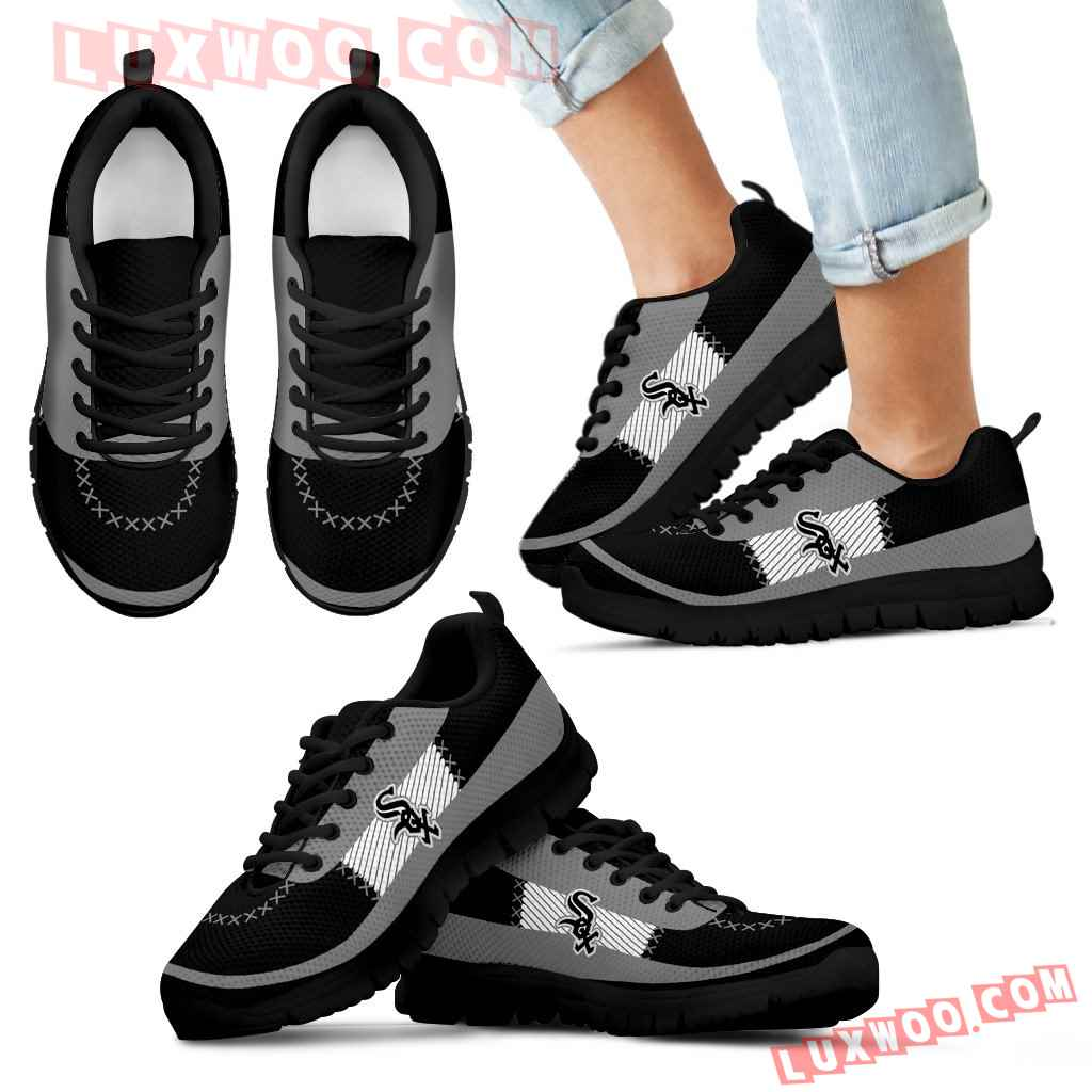 Cross Thread Seamless Beautiful Logo Chicago White Sox Sneakers