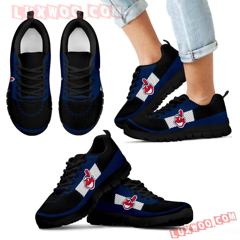 Cross Thread Seamless Beautiful Logo Cleveland Indians Sneakers