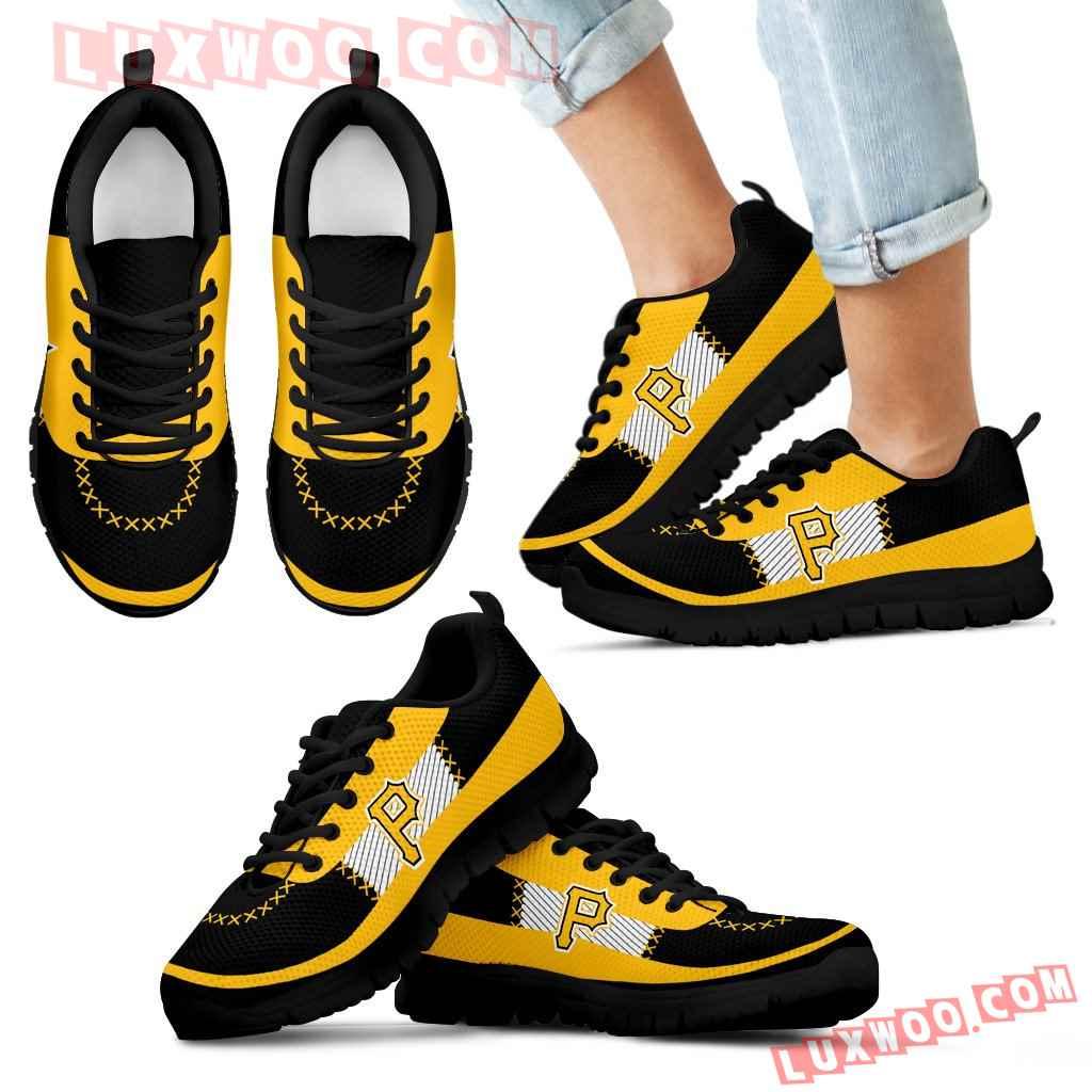 Cross Thread Seamless Beautiful Logo Pittsburgh Pirates Sneakers
