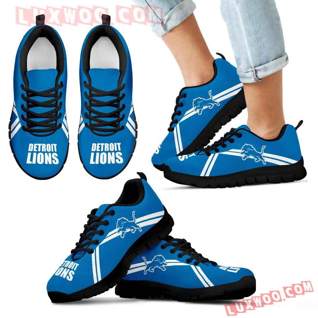 Detroit Lions Parallel Line Logo Sneakers