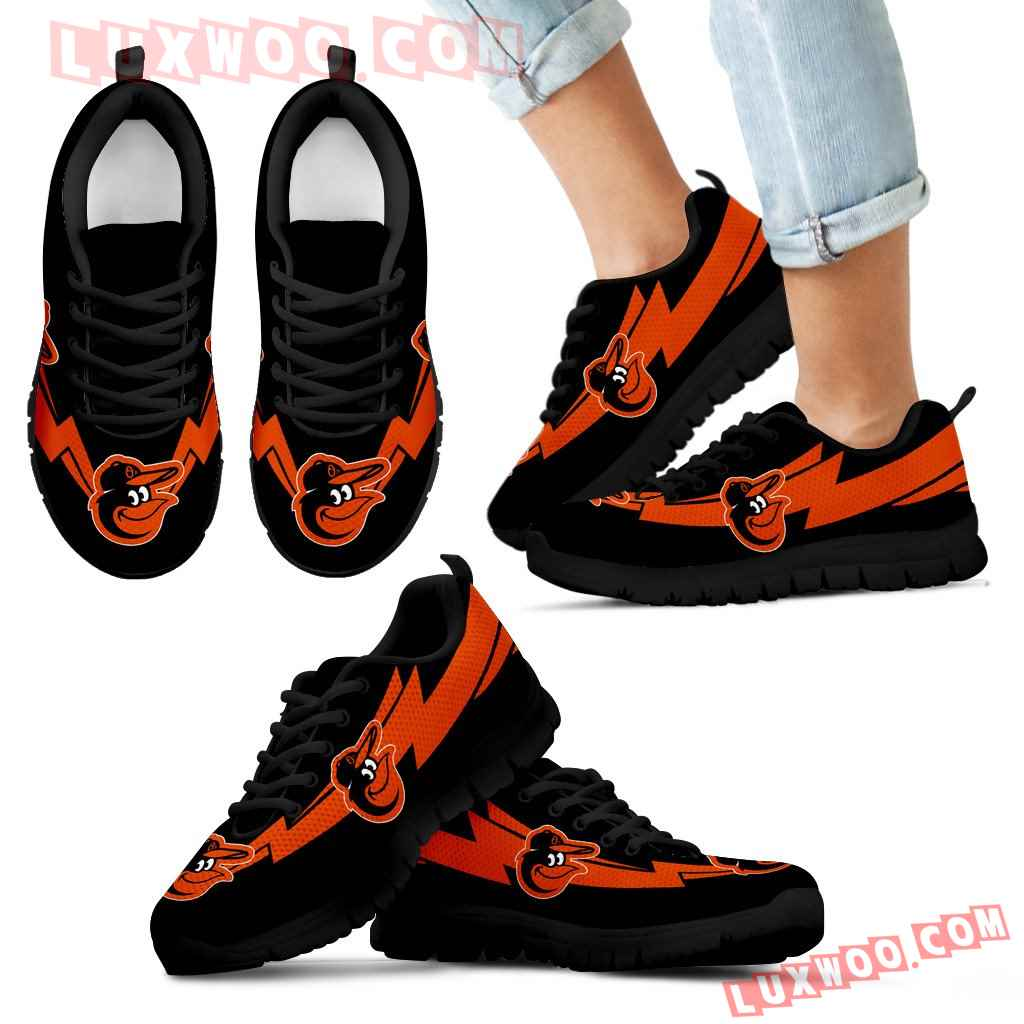 Three Amazing Good Line Charming Logo Baltimore Orioles Sneakers