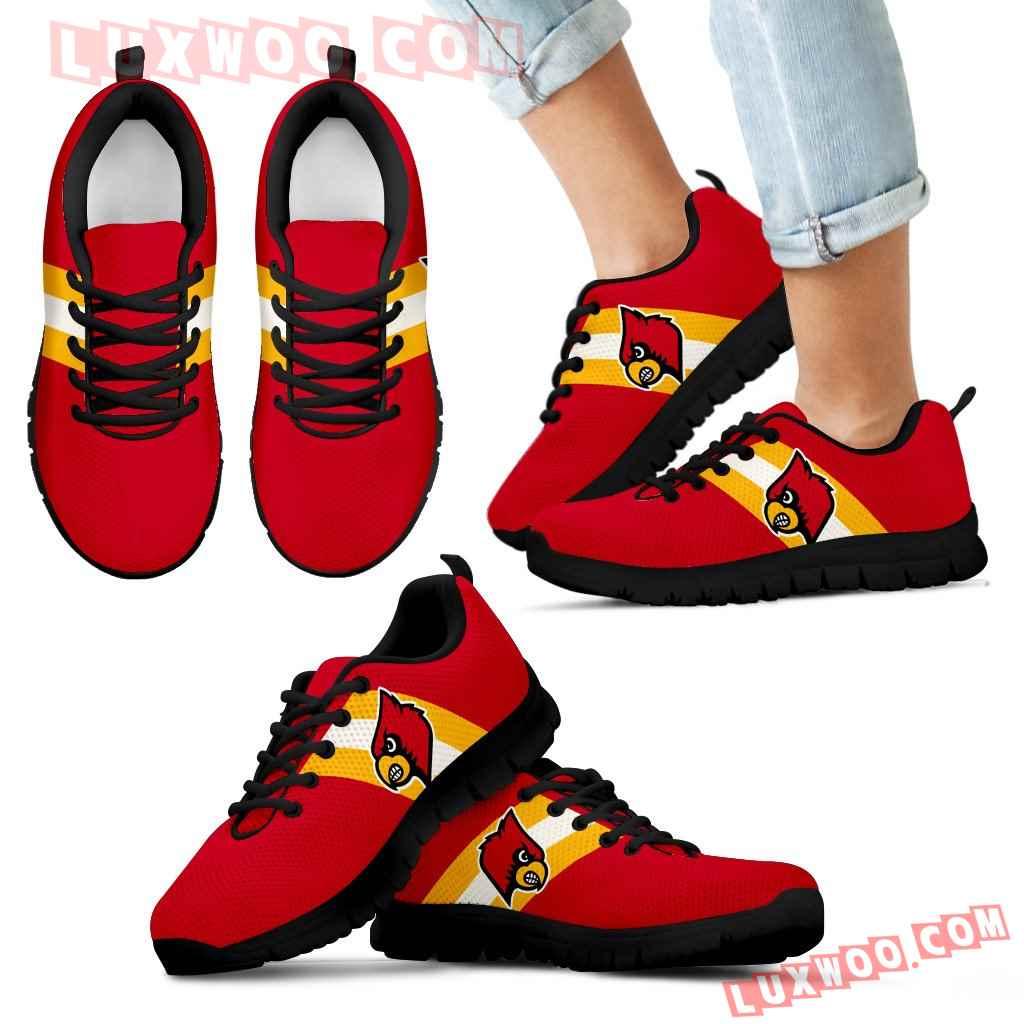 Three Colors Vertical Louisville Cardinals Sneakers