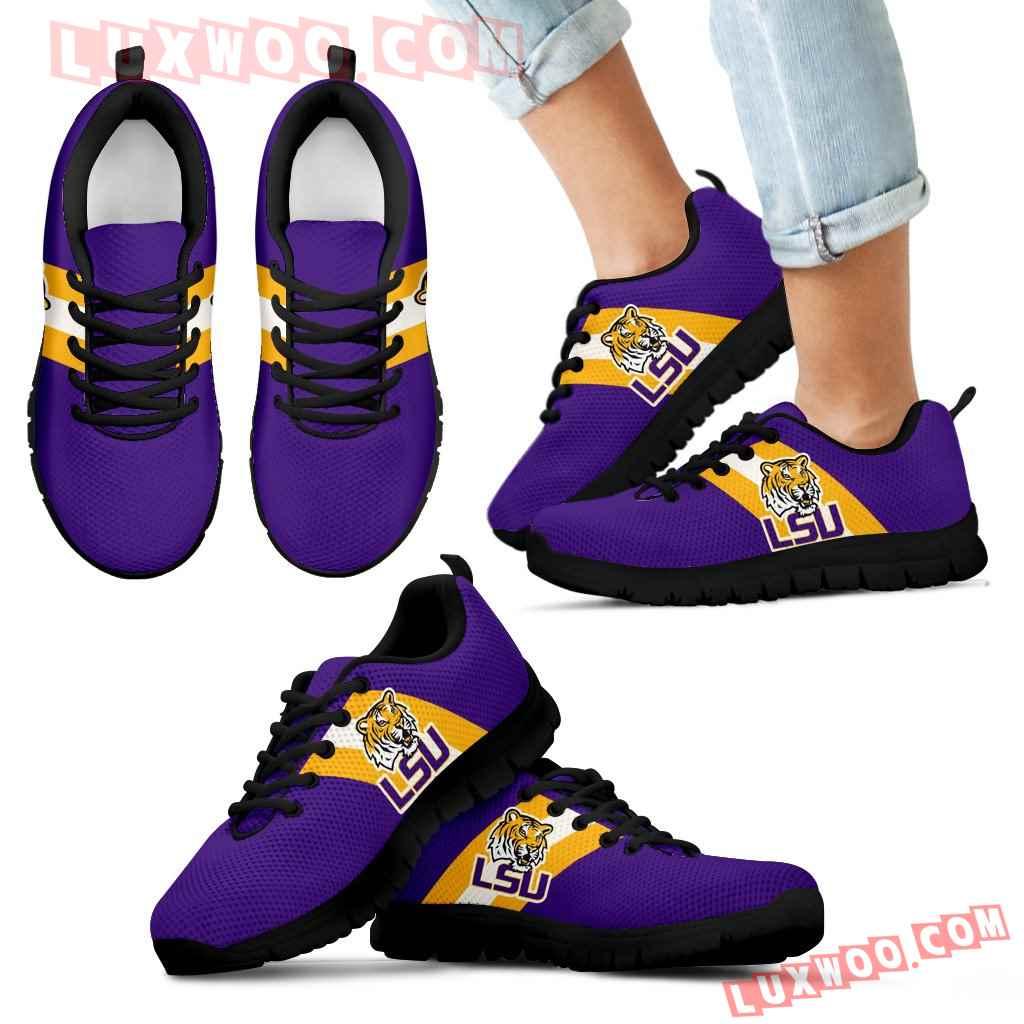 Three Colors Vertical Lsu Tigers Sneakers