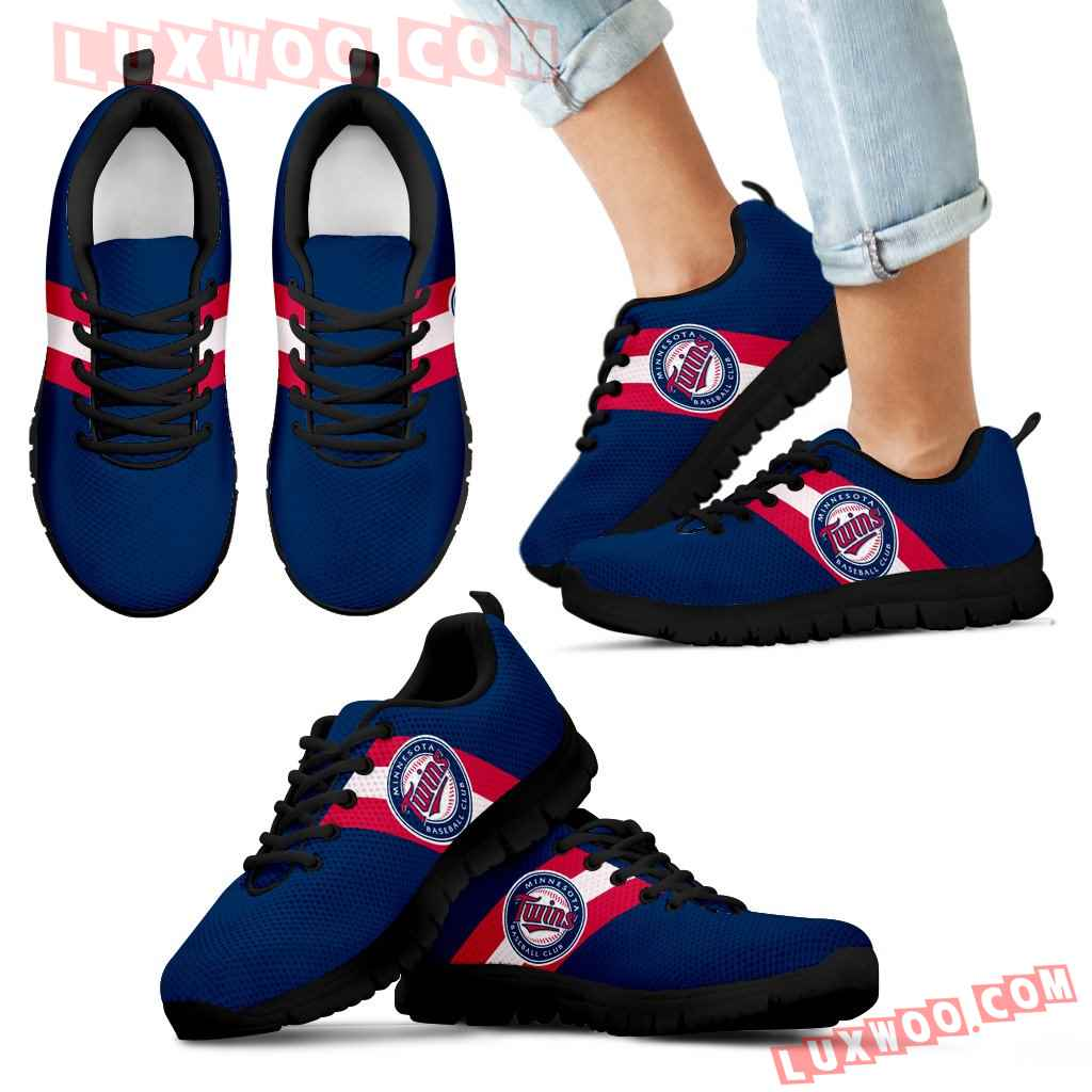 Three Colors Vertical Minnesota Twins Sneakers
