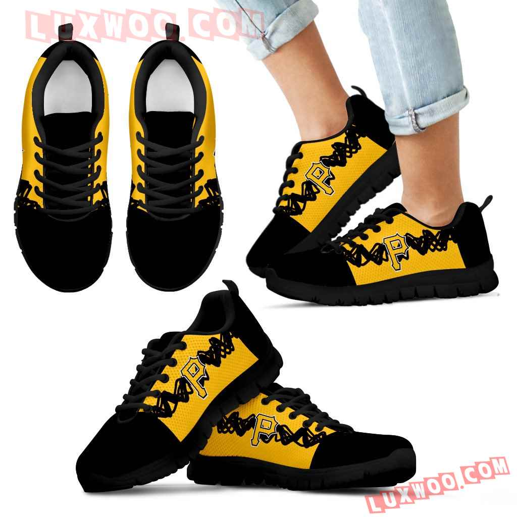 Doodle Line Amazing Pittsburgh Pirates Sneakers
