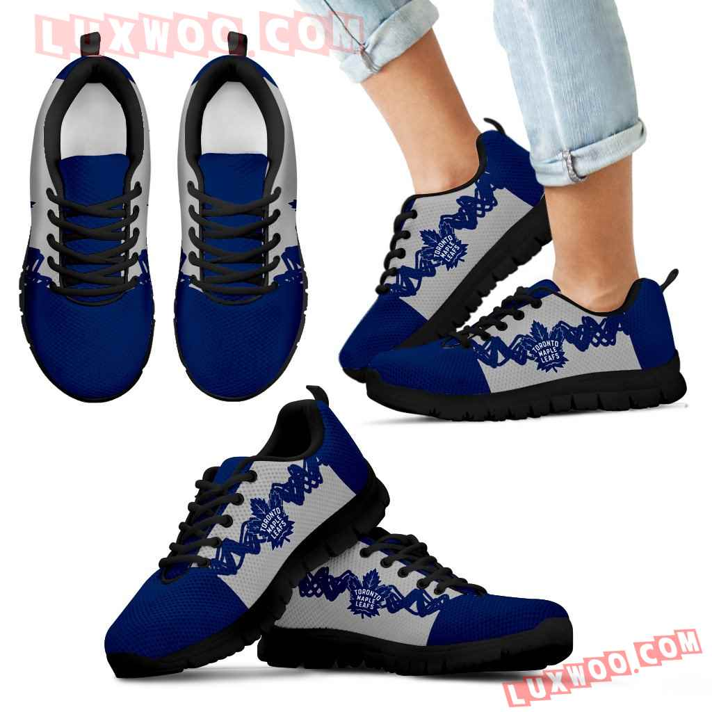 Doodle Line Amazing Toronto Maple Leafs Sneakers V1