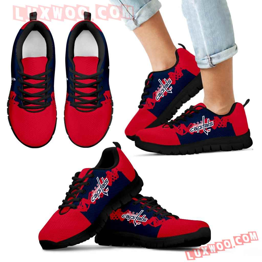 Doodle Line Amazing Washington Capitals Sneakers V1
