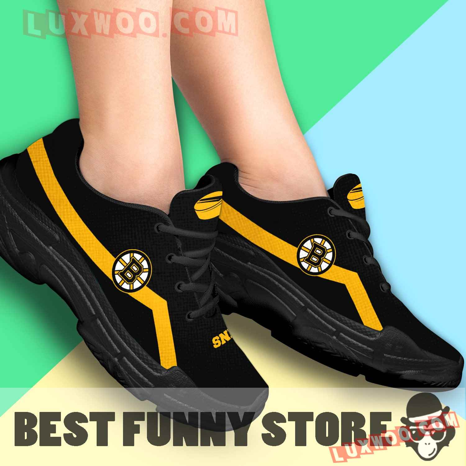 Edition Chunky Sneakers With Line Boston Bruins Shoes