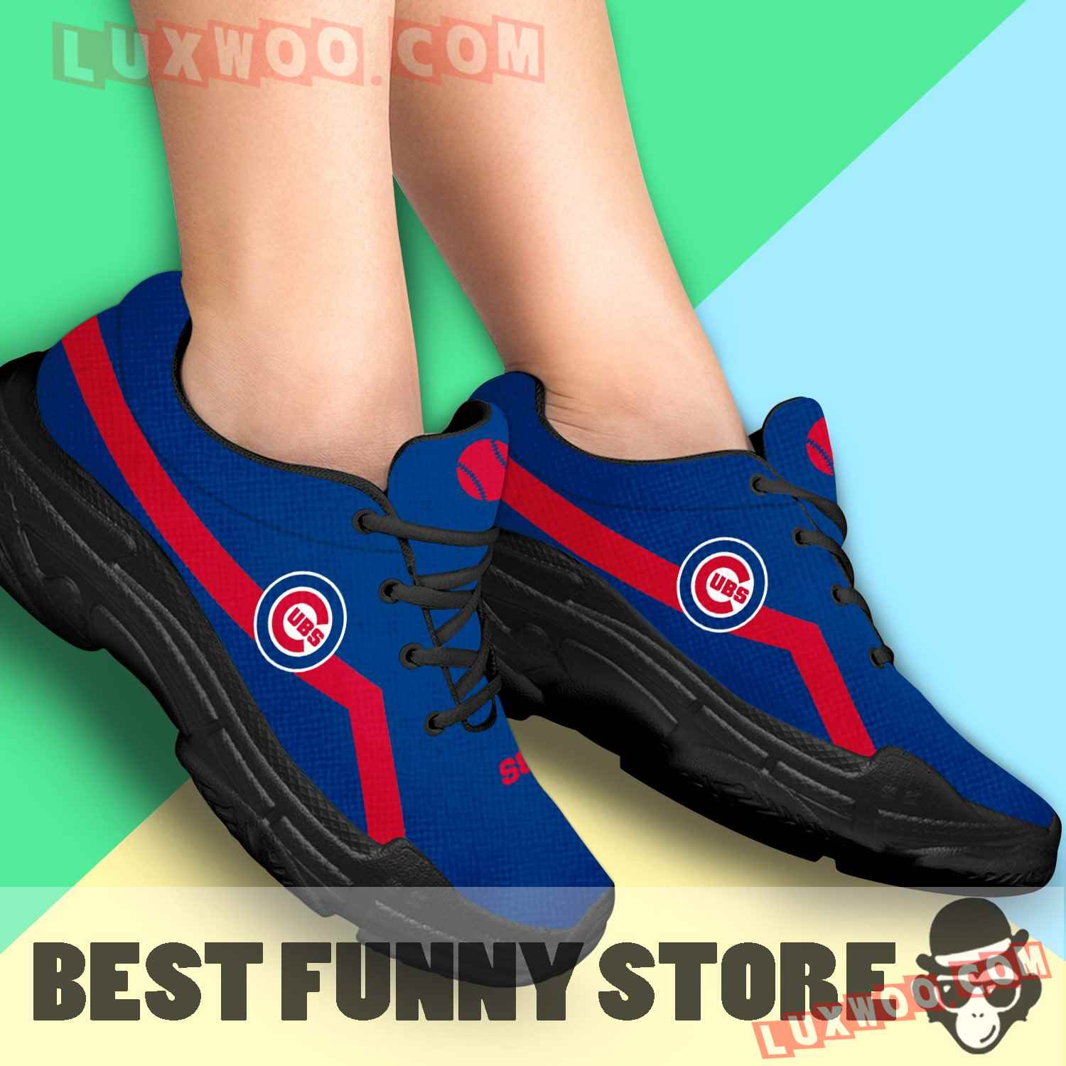Edition Chunky Sneakers With Line Chicago Cubs Shoes