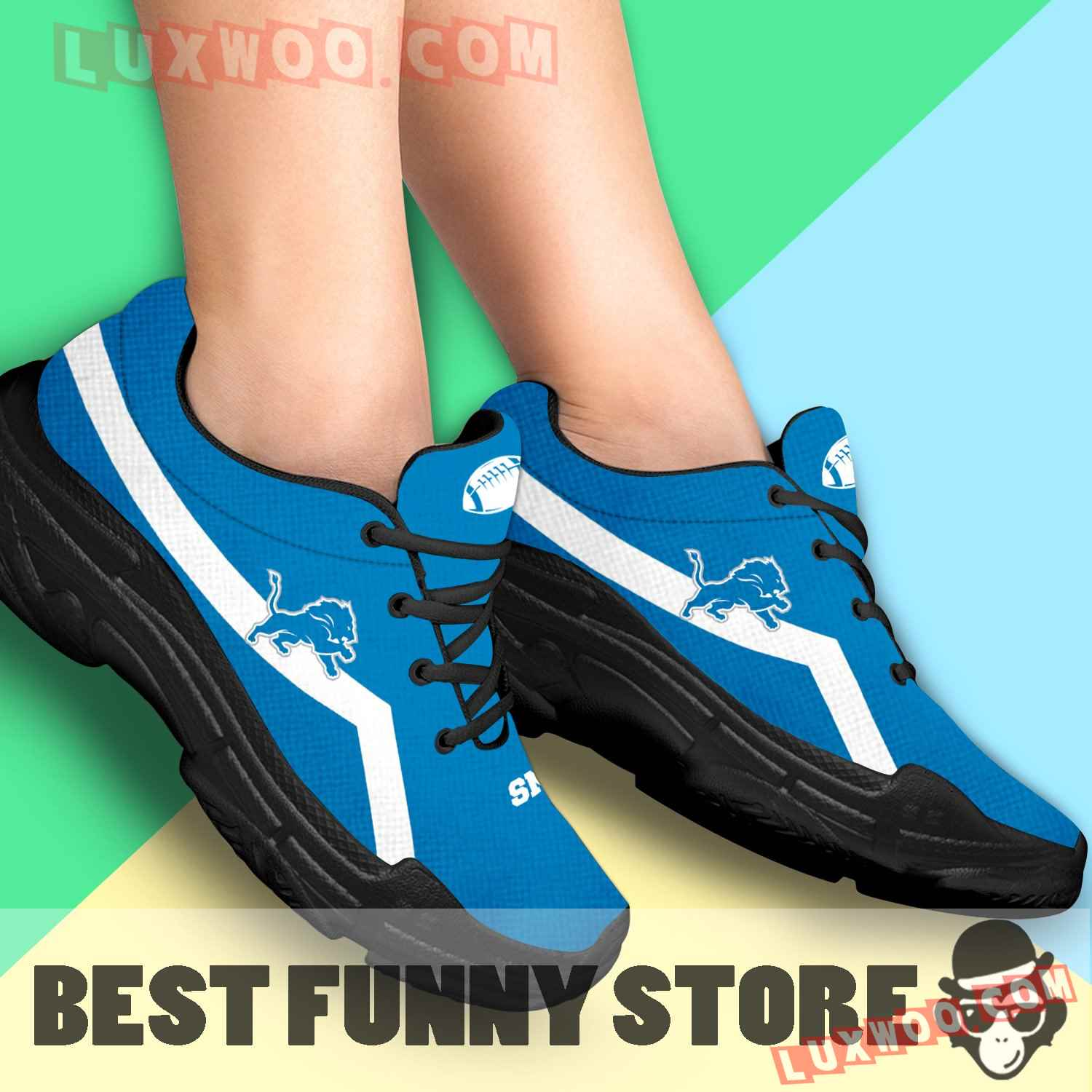 Edition Chunky Sneakers With Line Detroit Lions Shoes