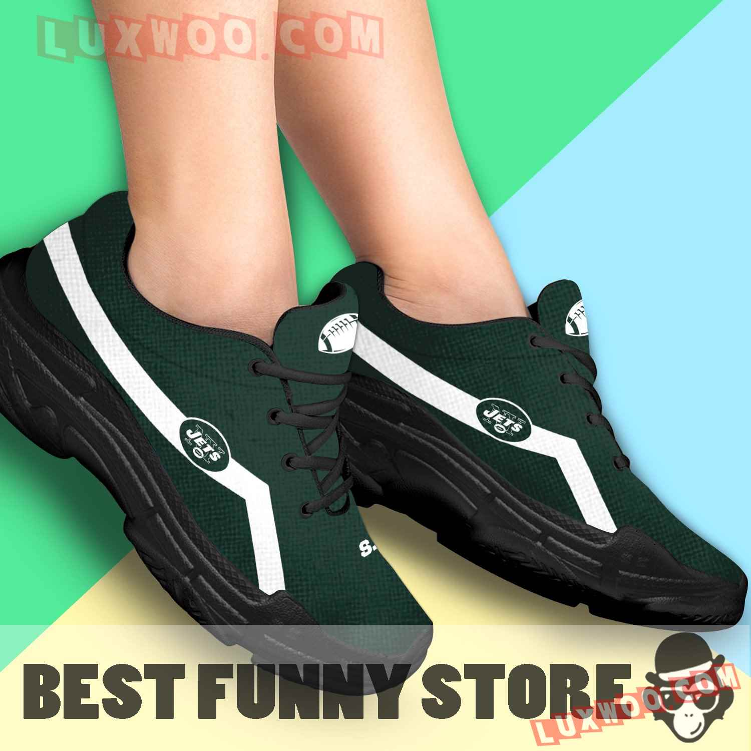 Edition Chunky Sneakers With Line New York Jets Shoes
