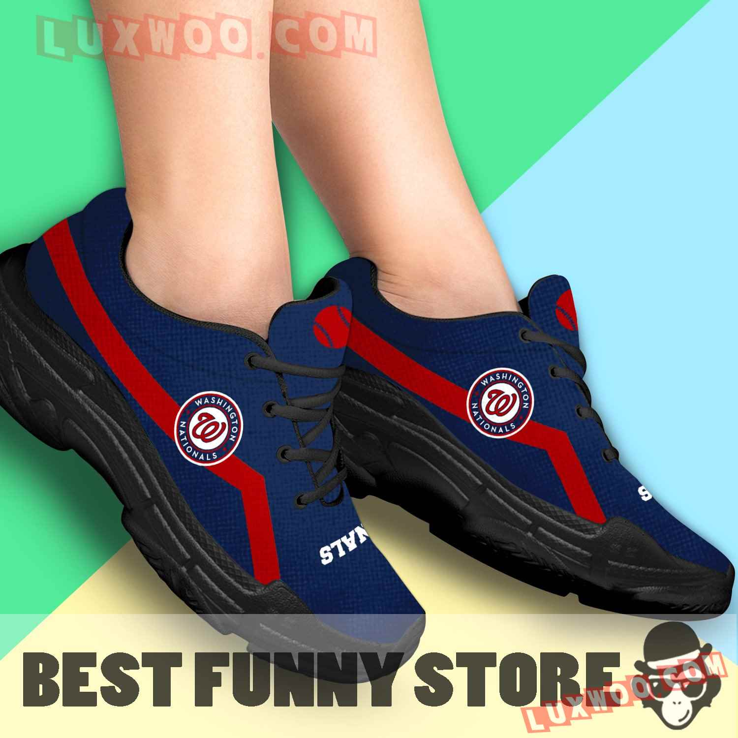 Edition Chunky Sneakers With Line Washington Nationals Shoes