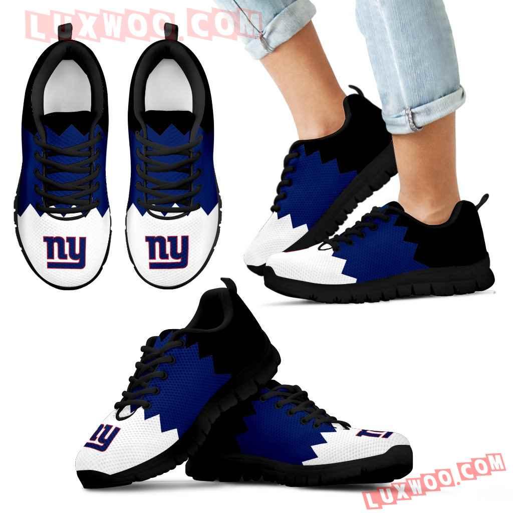Incredible Line Zig Zag Disorder Beautiful New York Giants Sneakers