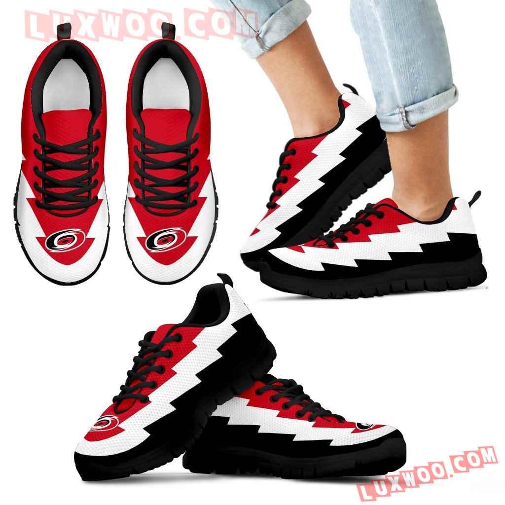 Jagged Saws Creative Draw Carolina Hurricanes Sneakers