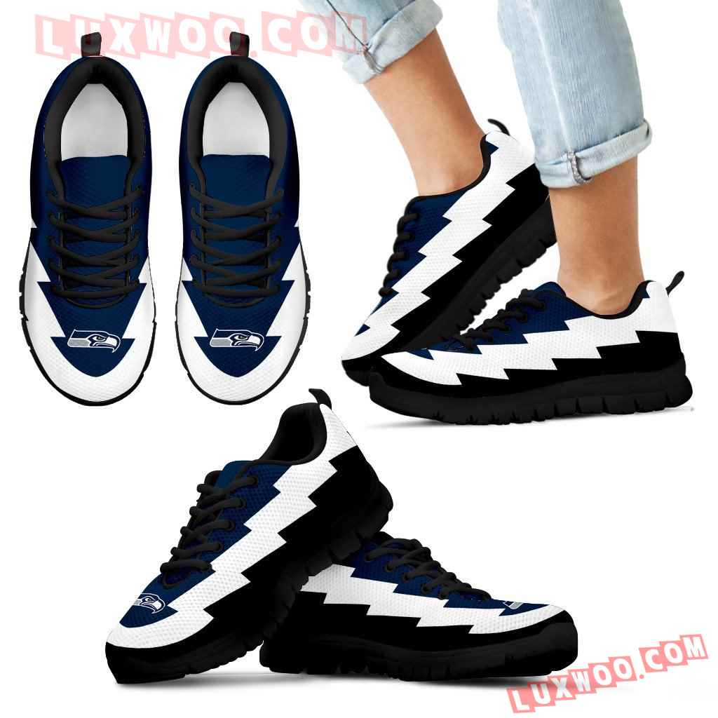 Jagged Saws Creative Draw Seattle Seahawks Sneakers