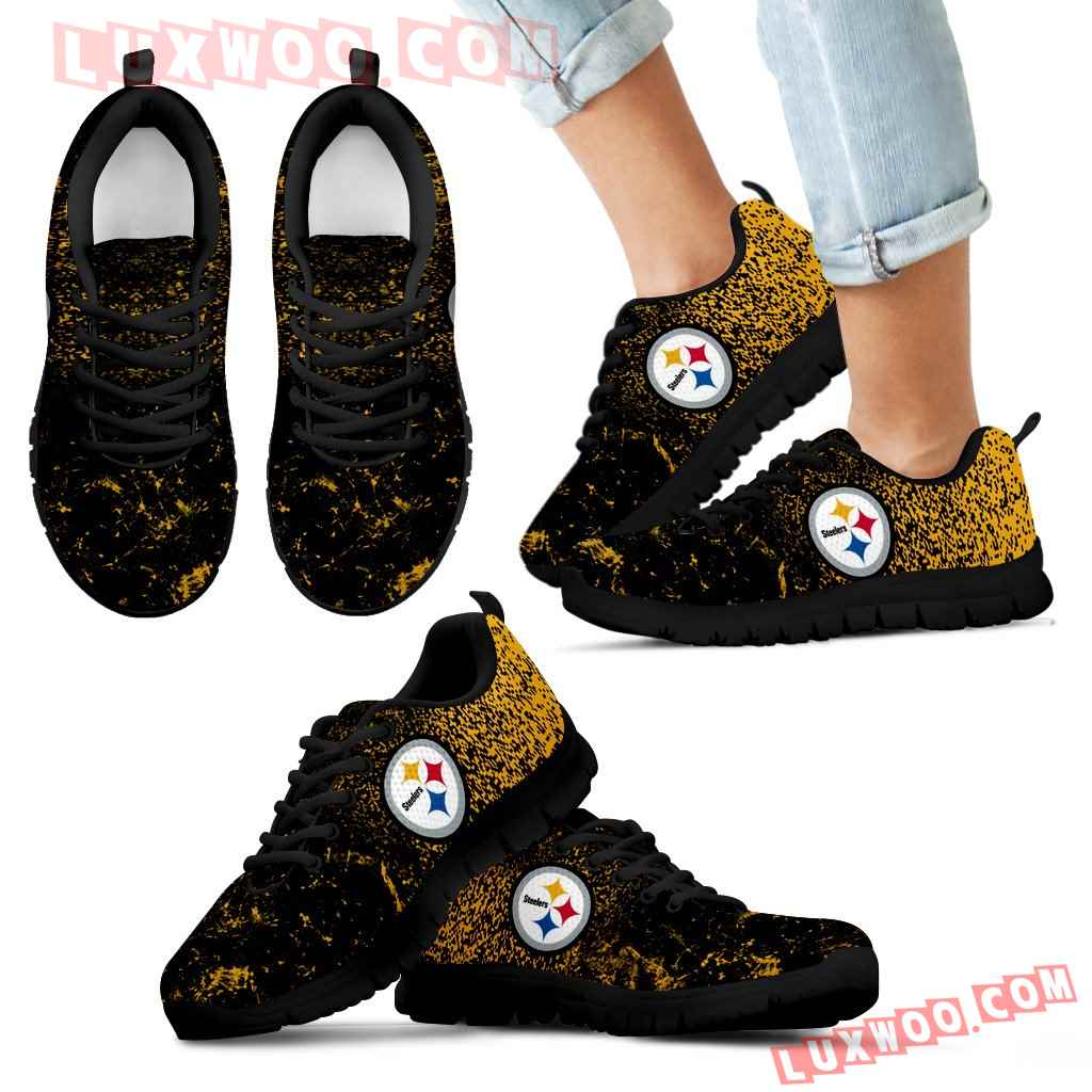 Light Tiny Pixel Smashing Pieces Psteelers Sneakers