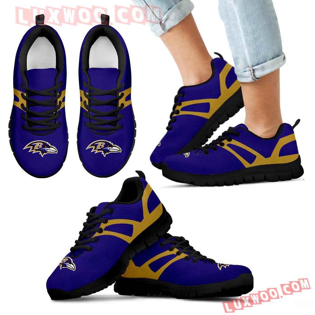 Line Amazing Bottom Baltimore Ravens Sneakers