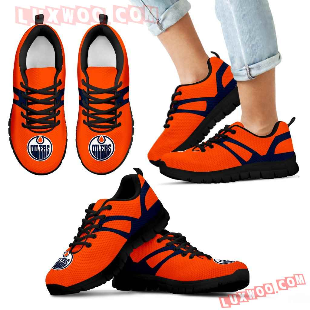 Line Amazing Bottom Edmonton Oilers Sneakers