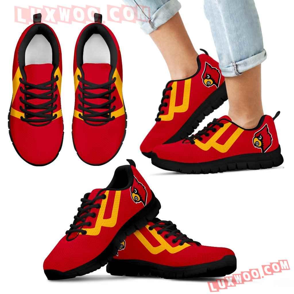 Line Bottom Straight Louisville Cardinals Sneakers