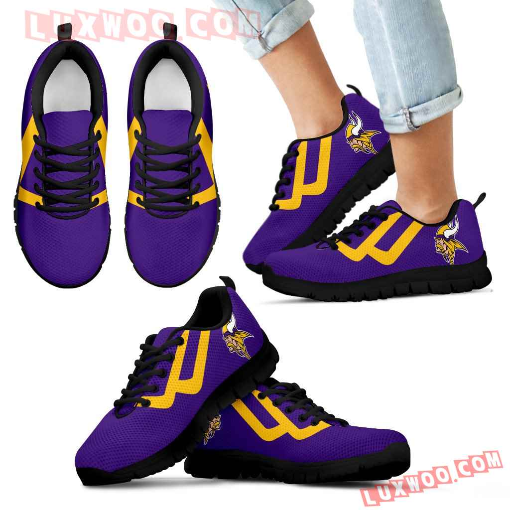 Line Bottom Straight Minnesota Vikings Sneakers