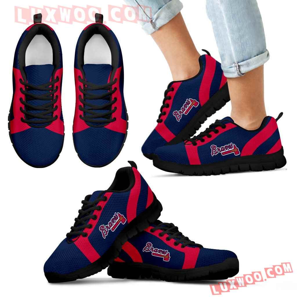 Line Inclined Classy Atlanta Braves Sneakers