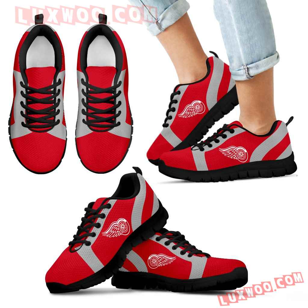 Line Inclined Classy Detroit Red Wings Sneakers
