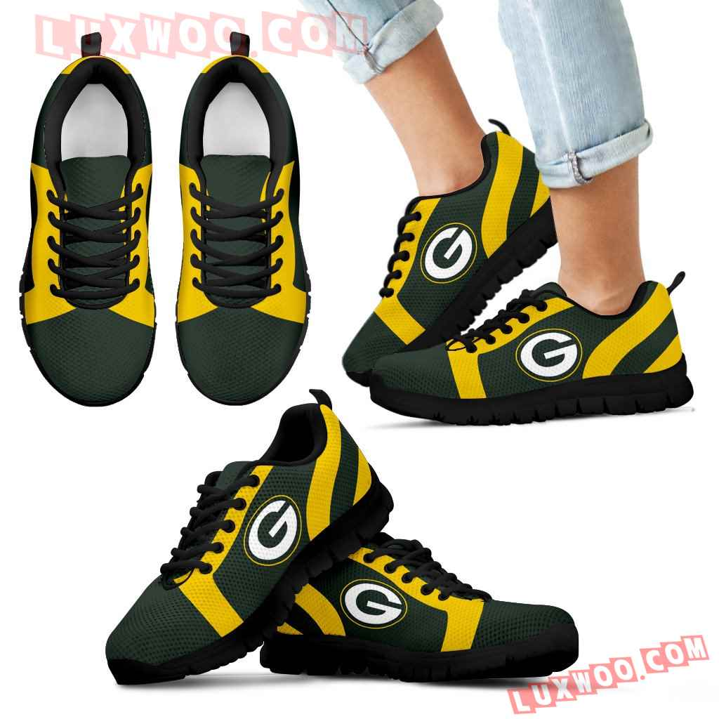 Line Inclined Classy Green Bay Packers Sneakers