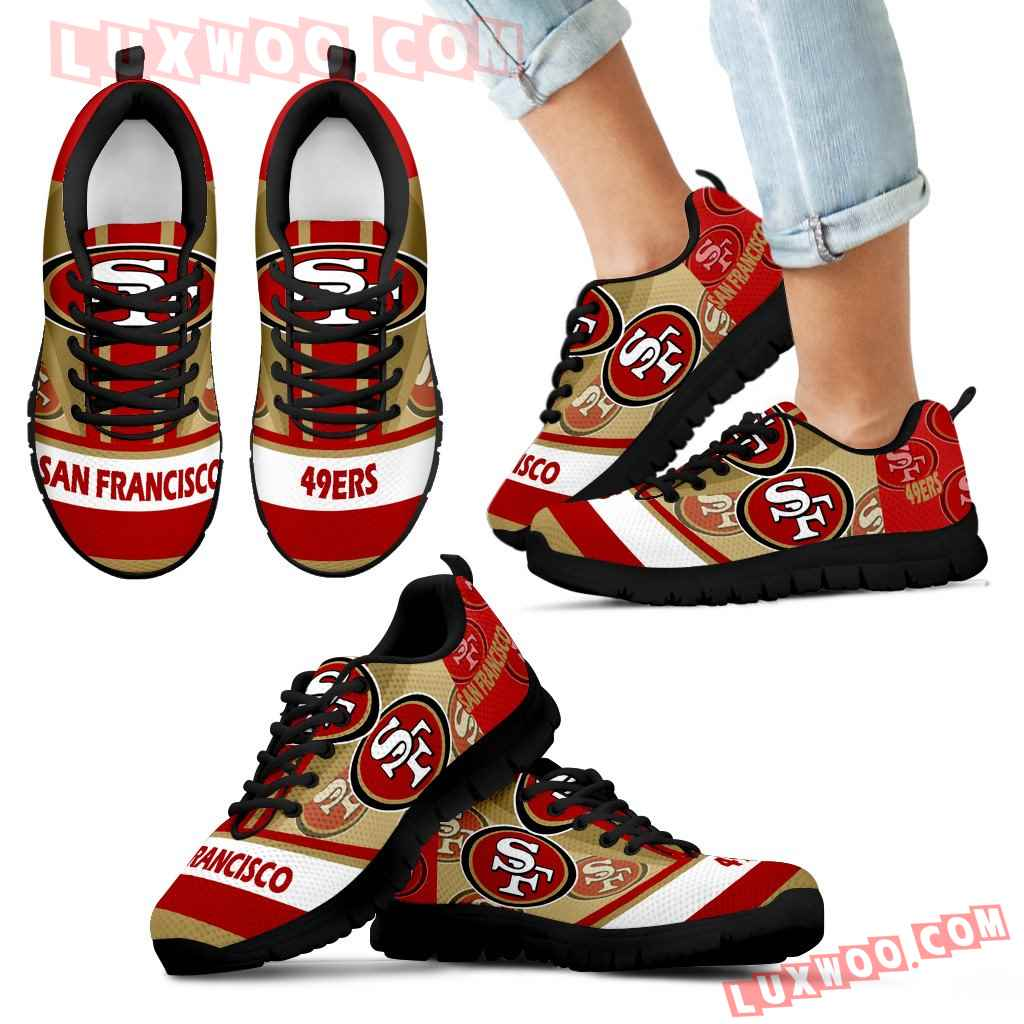 Three Impressing Point Of Logo San Francisco 49ers Sneakers