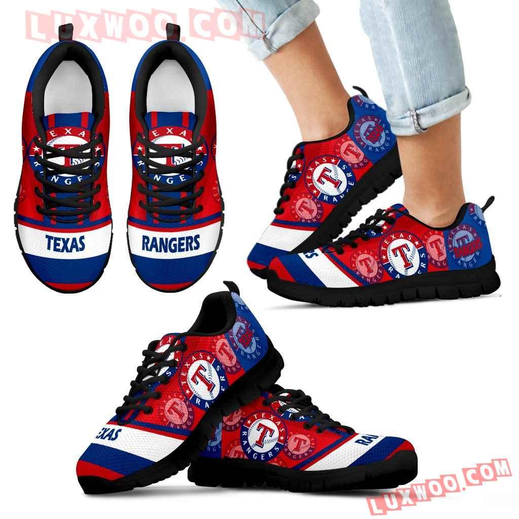 Three Impressing Point Of Logo Texas Rangers Sneakers