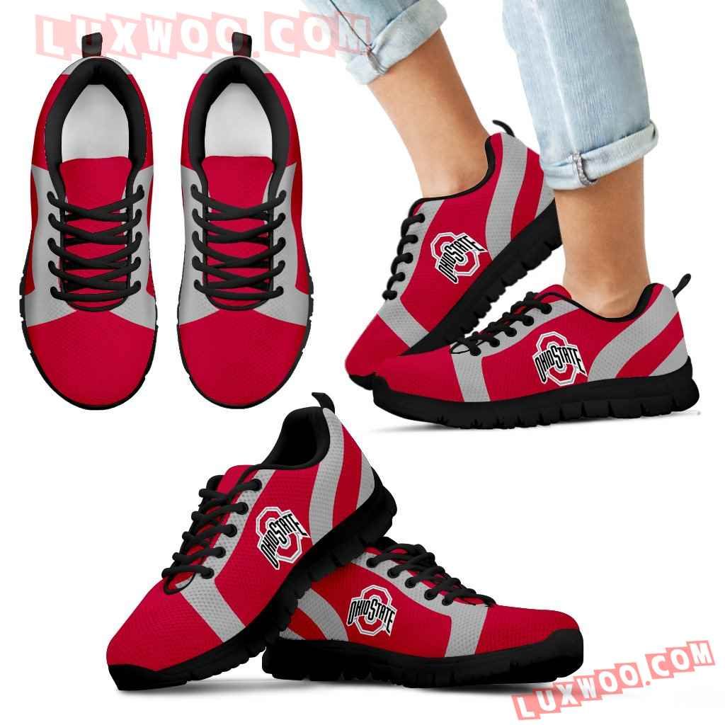 Line Inclined Classy Ohio State Buckeyes Sneakers