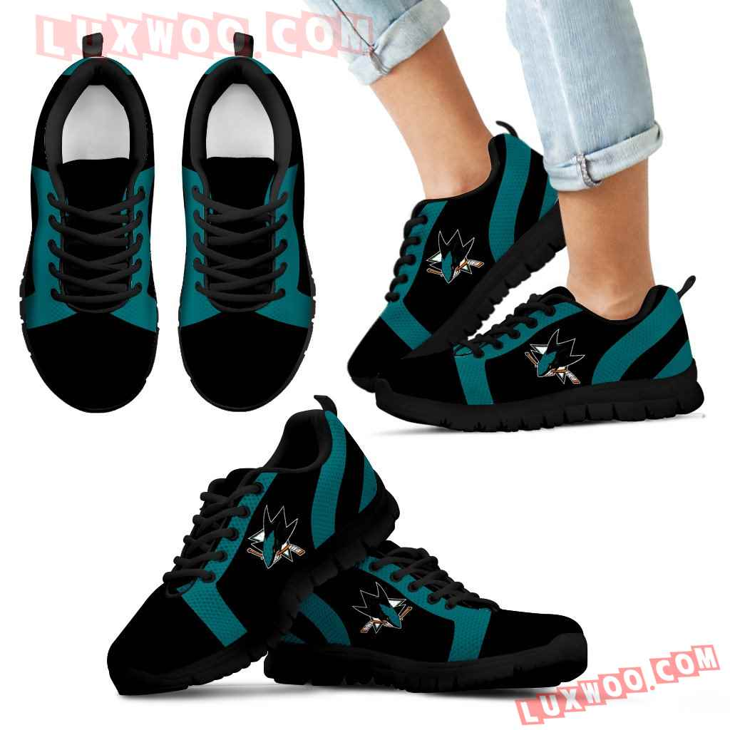 Line Inclined Classy San Jose Sharks Sneakers
