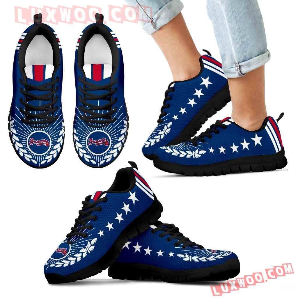 Line Of Stars Victory Atlanta Braves Sneakers