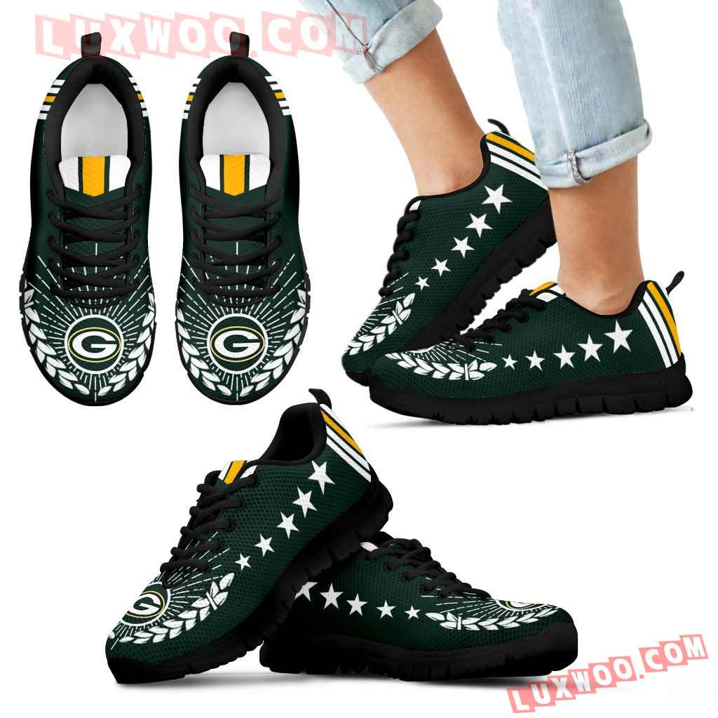 Line Of Stars Victory Green Bay Packers Sneakers