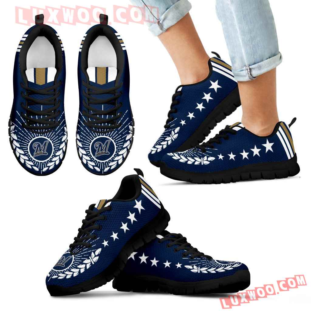 Line Of Stars Victory Milwaukee Brewers Sneakers