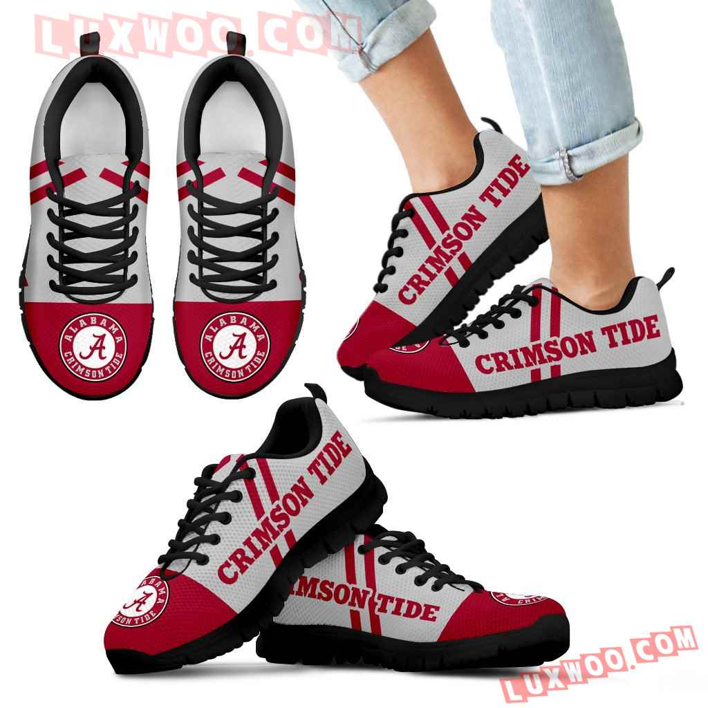 Line Stripe Logo Bottom Alabama Crimson Tide Sneakers