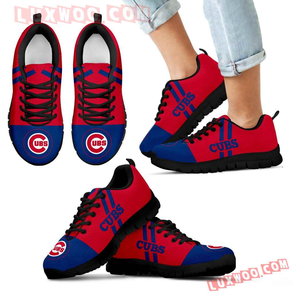 Line Stripe Logo Bottom Chicago Cubs Sneakers