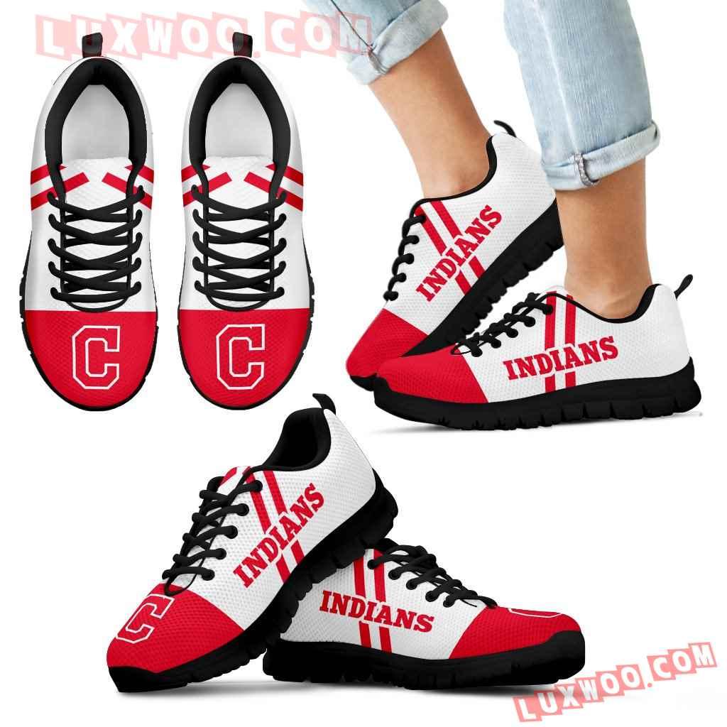 Line Stripe Logo Bottom Cleveland Indians Sneakers