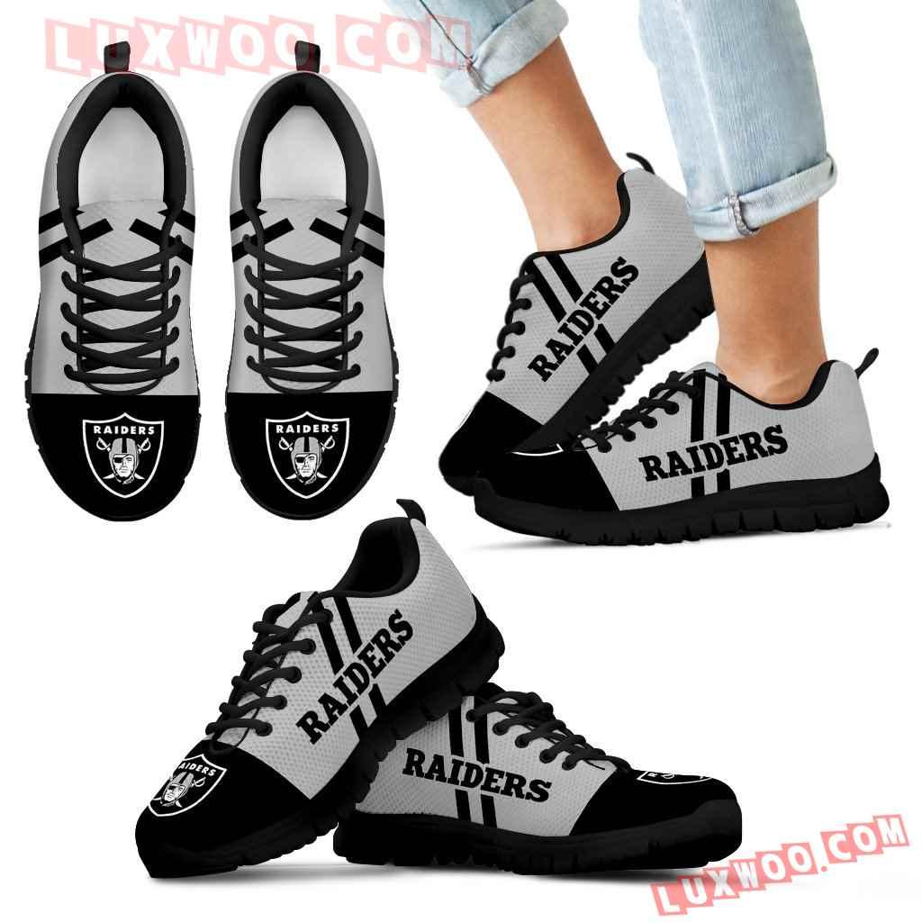 Line Stripe Logo Bottom Oakland Raiders Sneakers