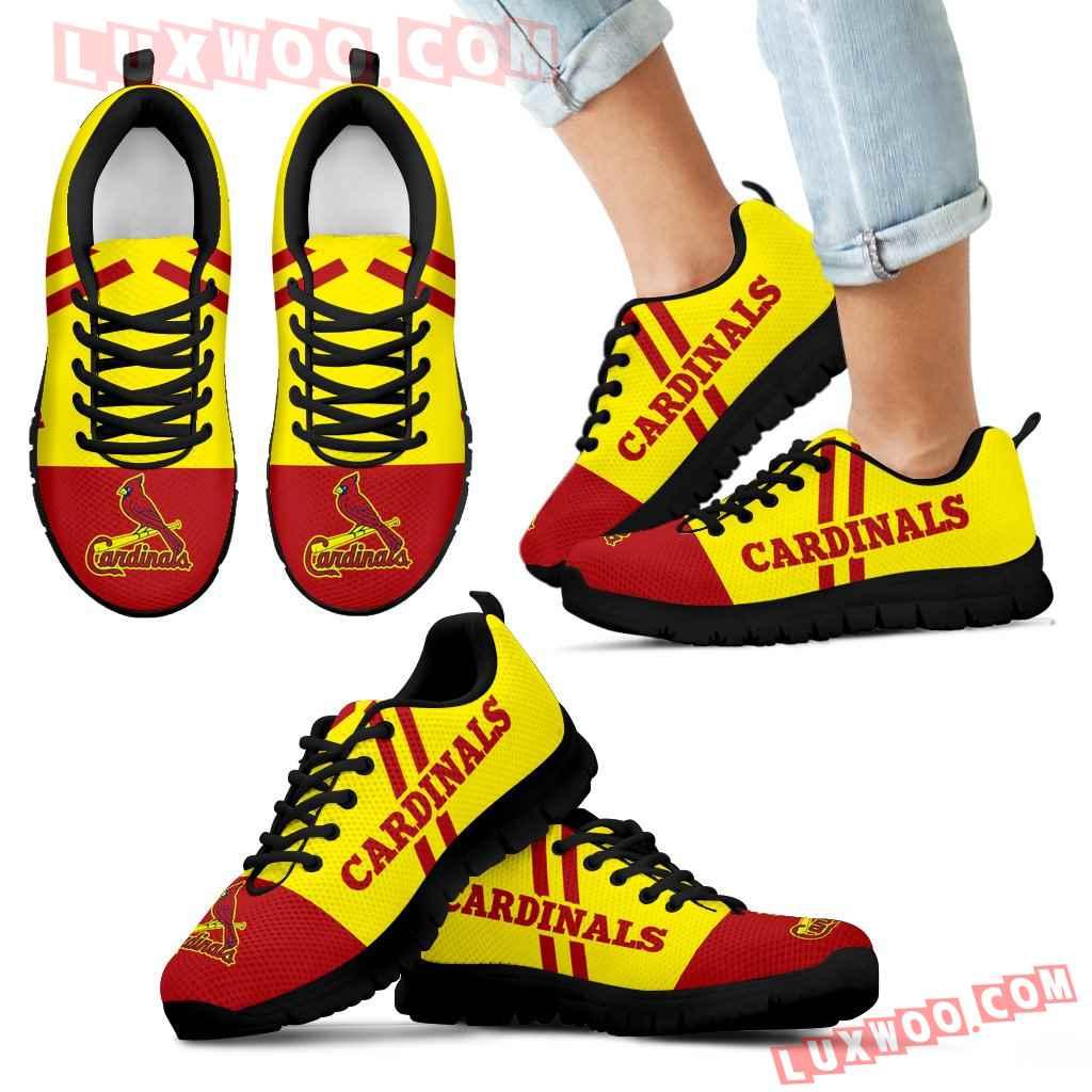 Line Stripe Logo Bottom St Louis Cardinals Sneakers