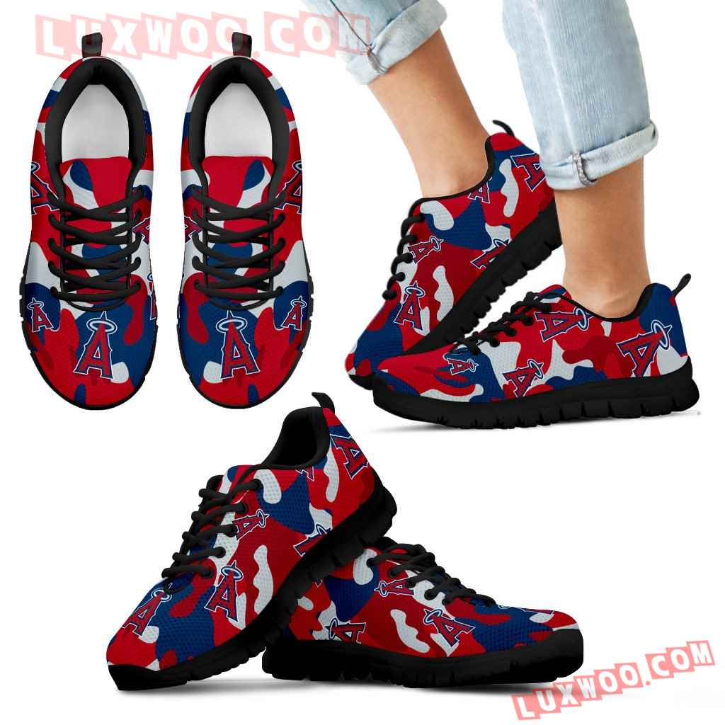 Los Angeles Angels Cotton Camouflage Fabric Military Solider Style Sneakers