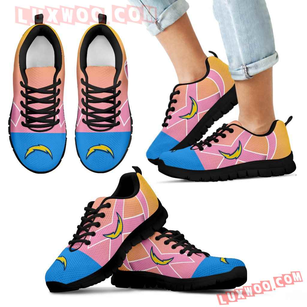 Los Angeles Chargers Cancer Pink Ribbon Sneakers