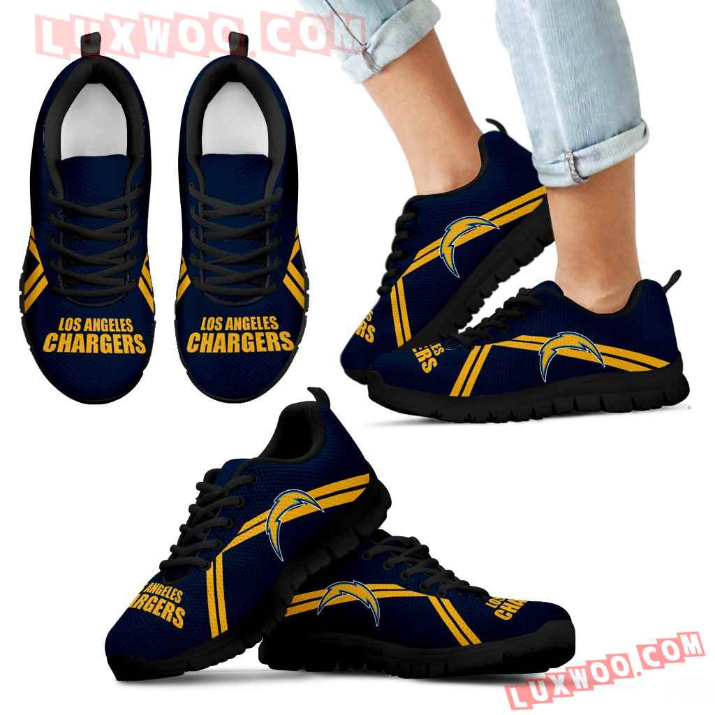 Los Angeles Chargers Parallel Line Logo Sneakers