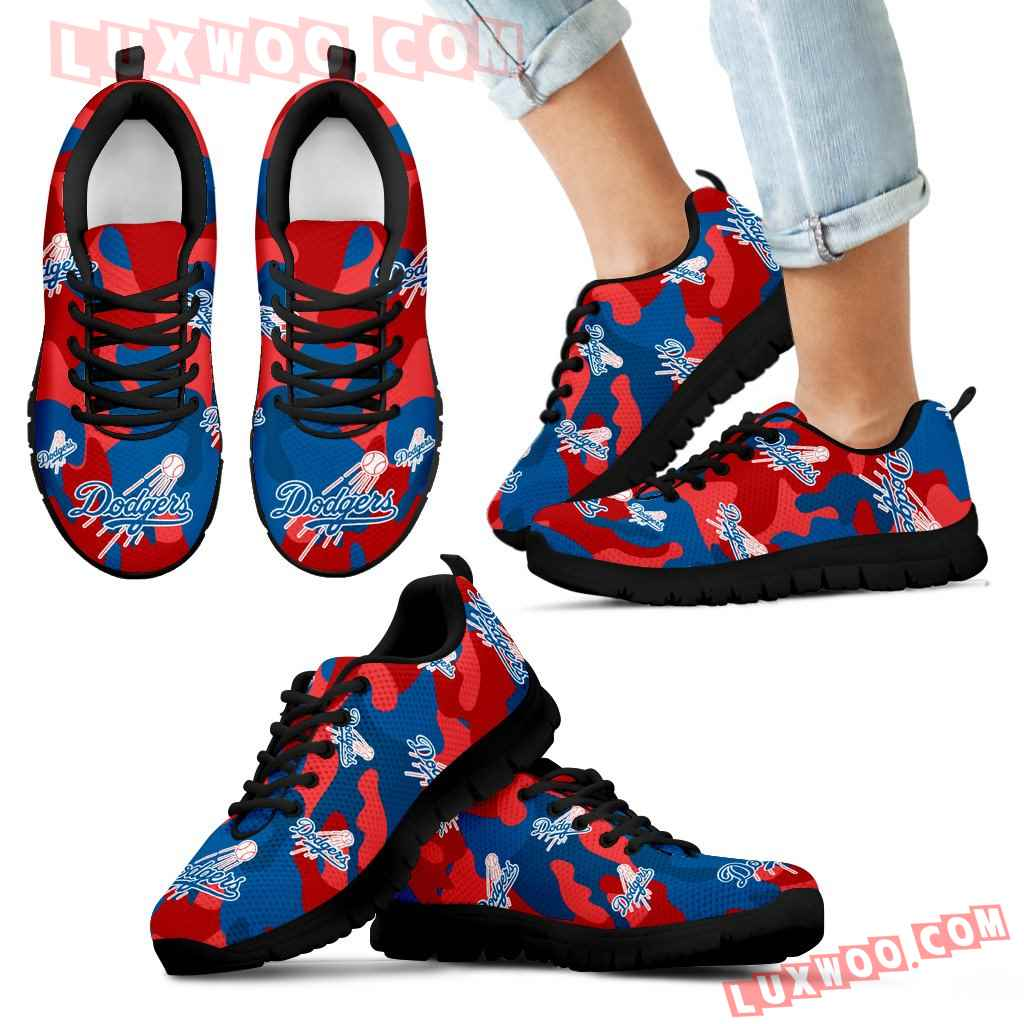 Los Angeles Dodgers Cotton Camouflage Fabric Military Solider Style Sneakers