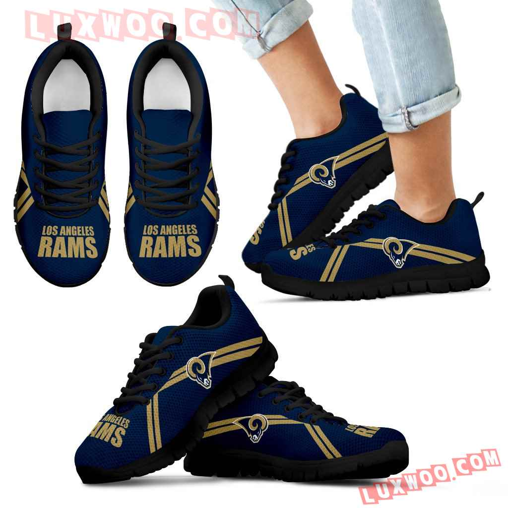 Los Angeles Rams Parallel Line Logo Sneakers