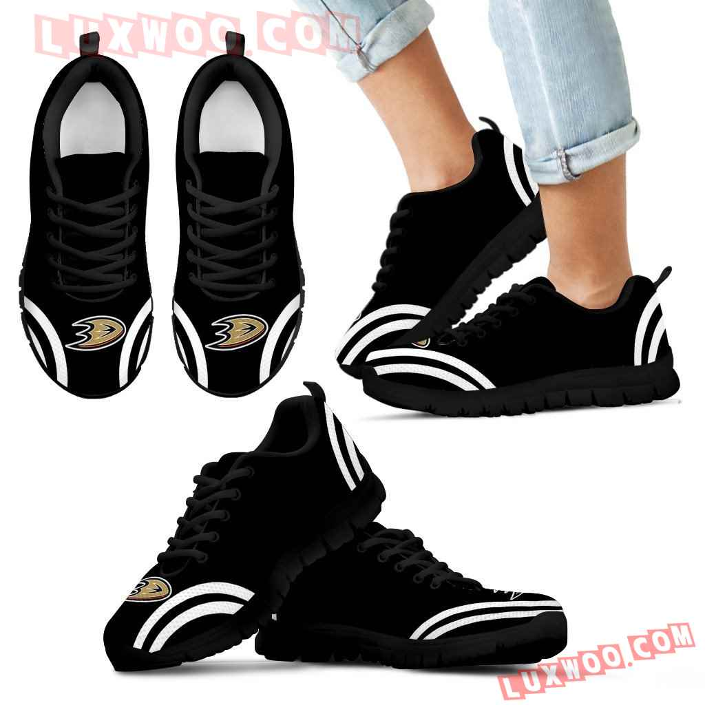 Lovely Curves Stunning Logo Icon Anaheim Ducks Sneakers